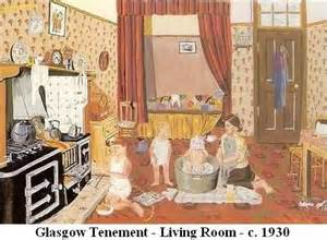 The Living Room Glasgow Furniture An Glasgow Tenement 1930 A Lot Of Had A Bed In