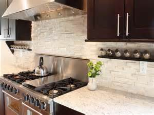 Stacked Stone Kitchen Backsplash Stacked Rock Kitchen Backsplash In White Combined With