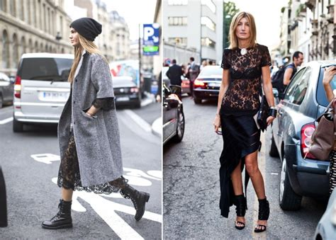 Rock Chic Biker Meets Beatnik In Lace And Leather by Top Style Trends 14 Rock Chic Looks