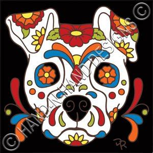 Wolf Bathroom Decor Amazon Com 6x6 Tile Day Of The Dead Dog Sugar Skull Home