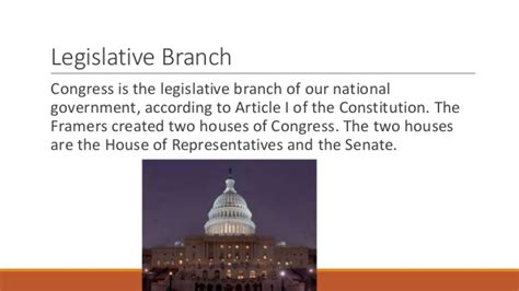What Are The Two Houses Of The Legislative Branch by The Setup Of The Legislative Branch