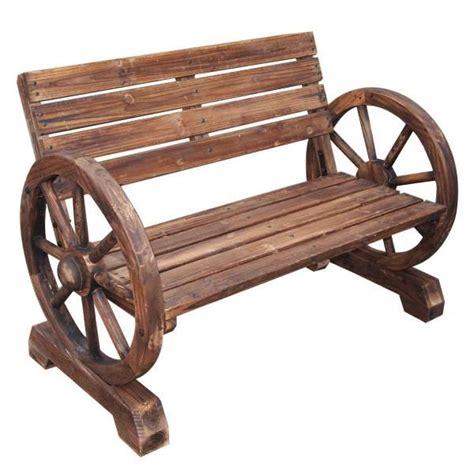 wagon wheel garden bench wagon wheel garden bench 79 backyard ideas pinterest