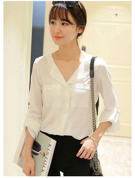 Blouse Korea korean blouse malaysia chiffon blouse pink