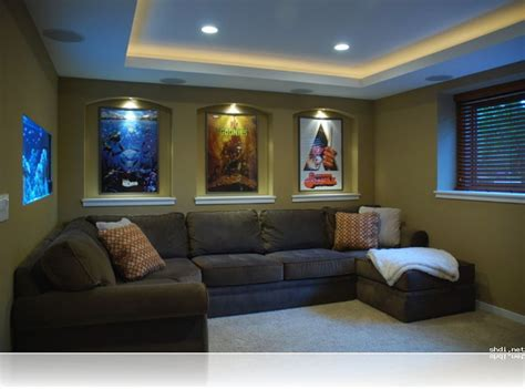 theater room ideas alluring small home theater room ideas l shape grey