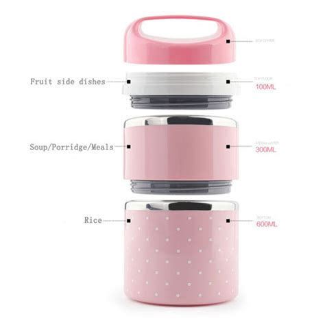 held korean style stainless steel lunch boxes door gift