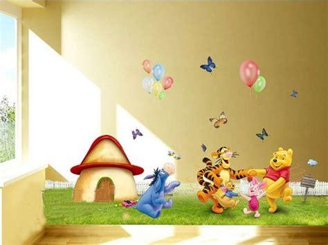 winnie pooh teppich groß dekor baum babyzimmer