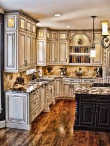 How To Antique Kitchen Cabinets by Antiqued Kitchen Crown Molding