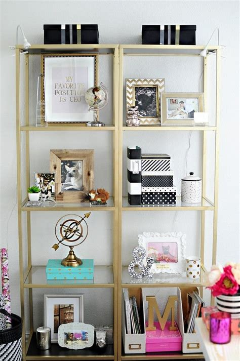 plain vittsjo shelves from ikea get a glam rev into