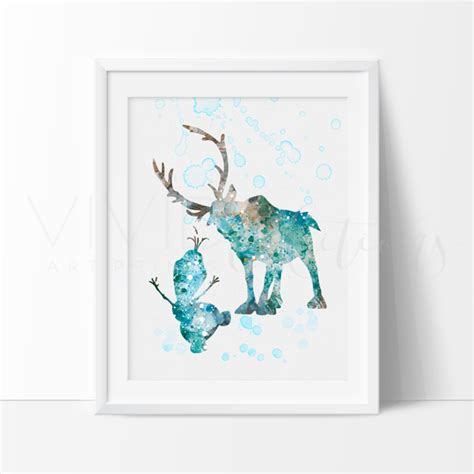 frozen printable wall art frozen sven and olaf nursery art print wall decor