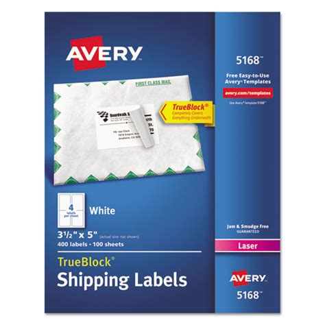 avery 5168 labels
