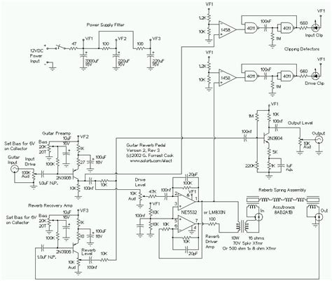 stage center reverb schematic guitar reverb effect version 2