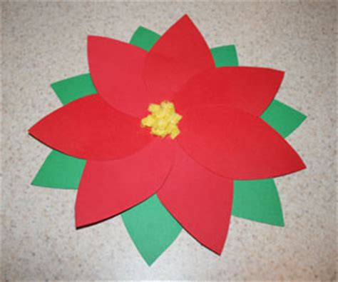 Poinsettia Paper Craft - e connection 16 12 13