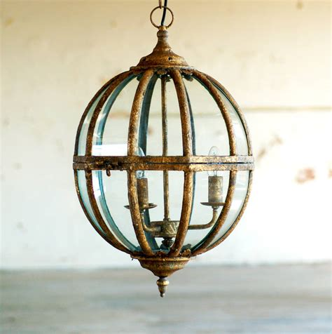 Gold Globe Chandelier Italian Gold Globe Ceiling Pendant Light Chandelier By