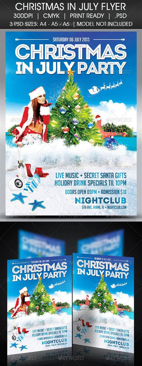Free Christmas In July Flyer Template 187 Tinkytyler Org Stock Photos Graphics In July Flyer Template