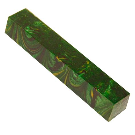 Synthetic Burl Green Acrylic Pen Blank 3 4 In X 5 In At