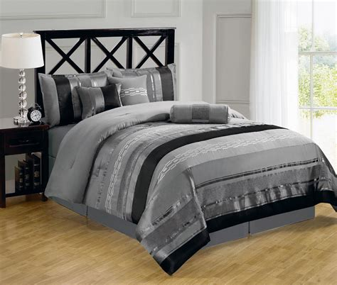 gray bed sets 7pc claudia gray bedding set elegantlinensanddecor com