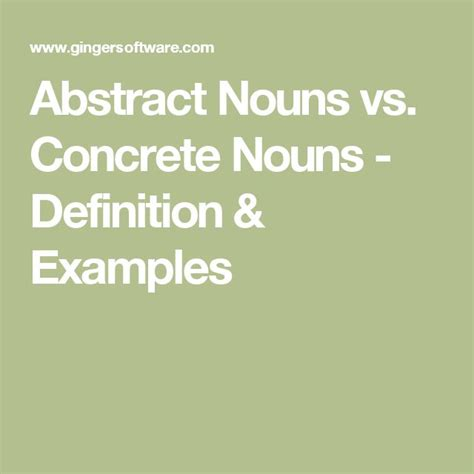 abstract nouns definition 25 best ideas about abstract nouns on
