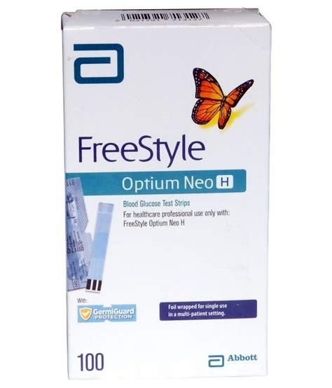 Freestyle Optium 100 Test Strips 1 abbott freestyle optium neo h strips 100 t 71312 78 march 2019 buy at best price in