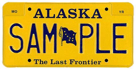 alaska license plates