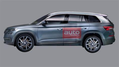 skoda kodiaq side skoda kodiaq side profile rendering indian autos