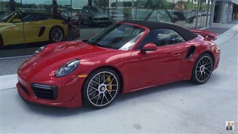 Porsche 911 Turbo S Red by 2017 Carmine Red Porsche 911 Turbo S Cabriolet 580 Hp