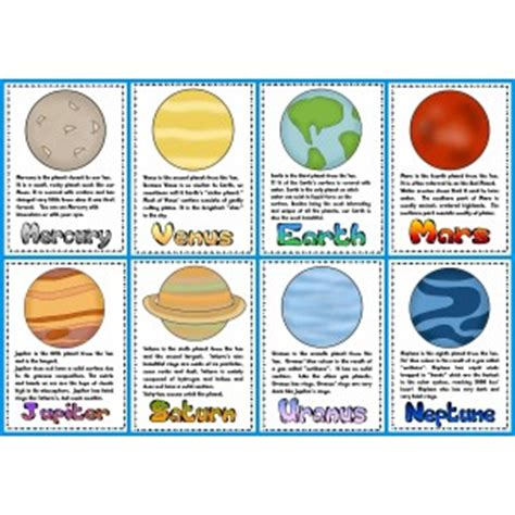 solar system trading cards template high school time work and the planets planets poster and the
