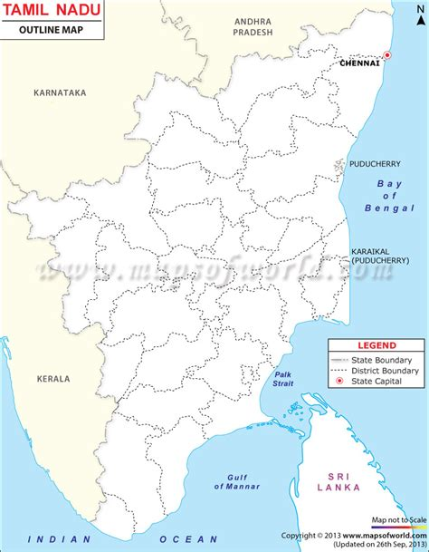 Tamilnadu Outline Map India by Tamilnadu Outline Map Tamilnadu Map India