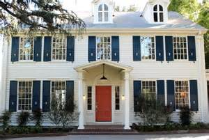 houses with shutters colonial home design ideas
