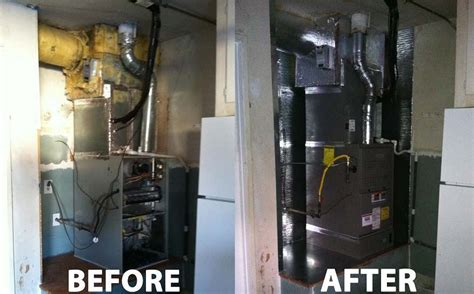 House Furnace In Garage by Air Conditioning Heating Repair Service