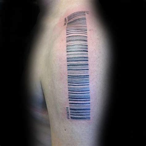barcode tattoo shoulder 30 barcode tattoo designs f 252 r m 228 nner parallel line ink