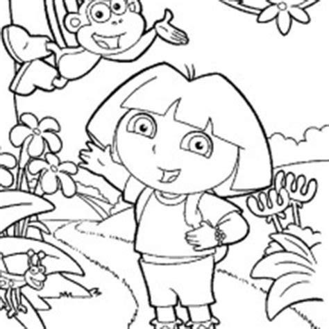dora swimming coloring pages dora the explorer netart