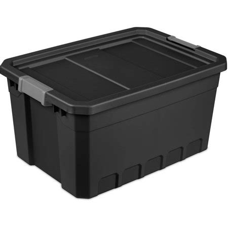 sterilite 19 gal christmas ornament storage sterilite 19 gal stacker tote black available in of 6 or single unit walmart