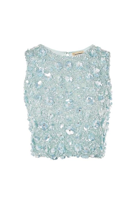 Embellished Top hazel embellished top by lace topshop
