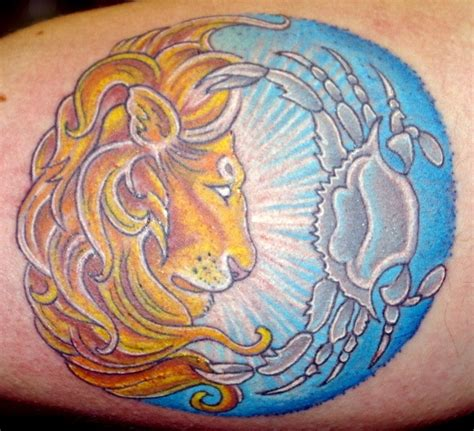leo cancer cusp tattoo bing images tattoo ideas