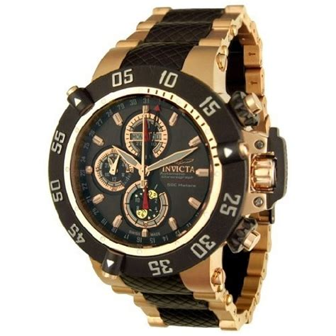 invicta 4548 23kt gold plated stainless steel