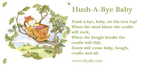 hush a bye baby new books for newborns books hush a bye baby on the tree top when by nursery rhymes