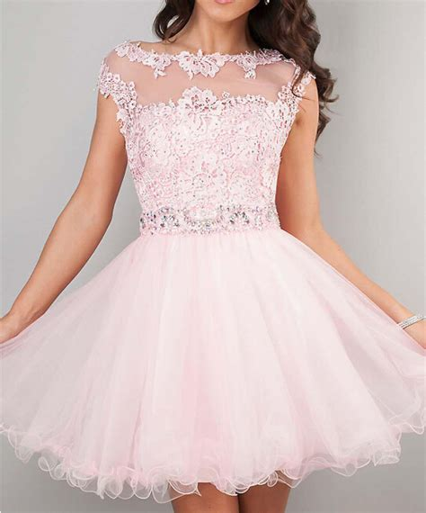 Klething Manggar Pink Dress 7 8th 2015 prom dresses pink high neck beaded applique see through gowns cheap junior
