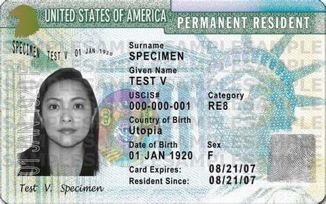 resident green card template form i 9 acceptable documents uscis