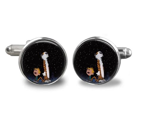 Handmade Cufflinks - jewelry calvin and hobbes handmade cufflinks 2432792