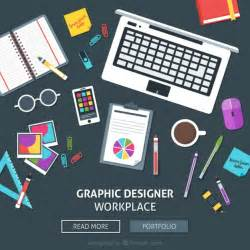 Graphic Design Graphic Designer Workplace Web Vector Free