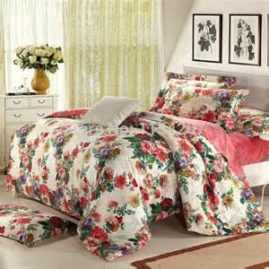 floral bedding fast free shipping 100 cotton floral vintage wedding bedding set 4pcs bedclothes for