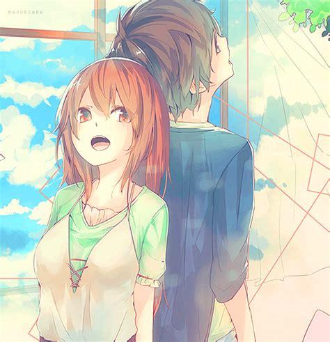 Love Tree Happy Anime Sky Friends Draw Anime Girl Anime Anime Friends Boy And