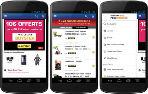 application for android d 233 couvrez l application android priceminister frandroid