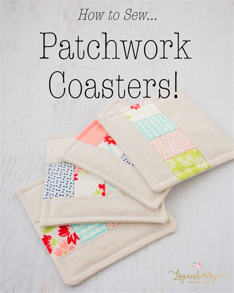 How To Sew Patchwork - patchwork coasters sewing tutorial 187 loganberry handmade