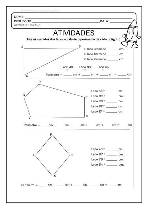 5º ano perímetro, polígono EM PDF   Atividades Pedagogica