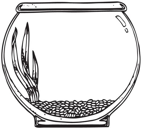Fish Bowl Coloring Pages empty fish bowl coloring page clipart best