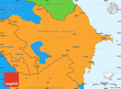 political map of azerbaijan political simple map of azerbaijan