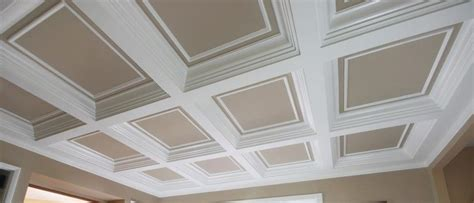 Coffered Ceiling System by Custom Made Coffered Ceiling System 4 By Fanatic Finish
