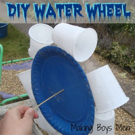How To Make A Paper Wheel - how to make a water wheel paper plate