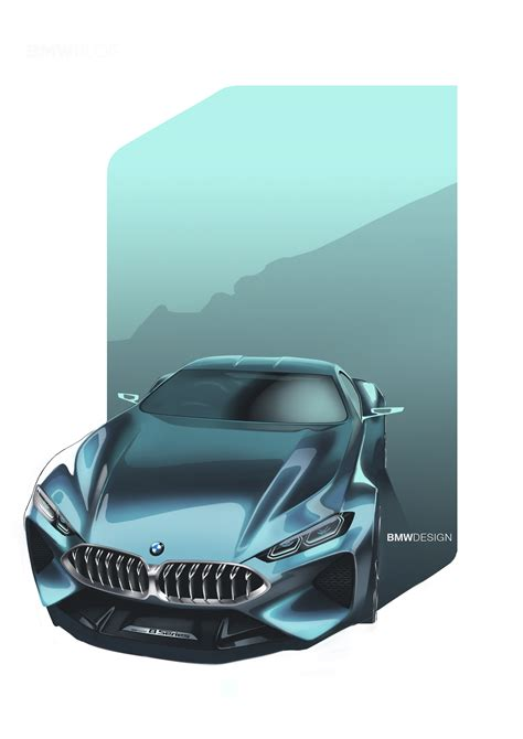 8 Series Sketches by Bmw Concept M8 Gran Coupe To Be Unveiled Next Month